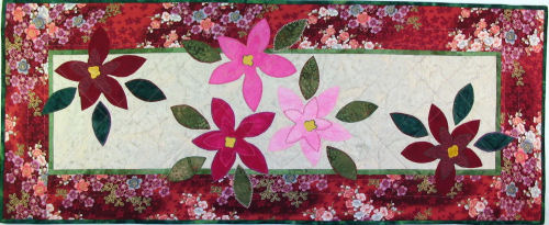 Christmas Party Poinsettia Quilt Pattern
