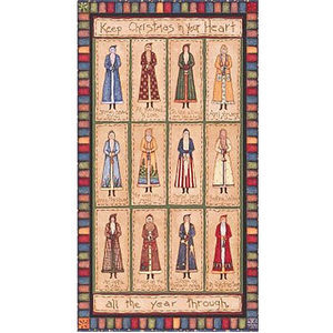 Christmas Quilt Fabric Panels