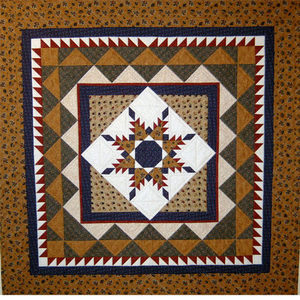 Feathered Star Medallion quilt pattern