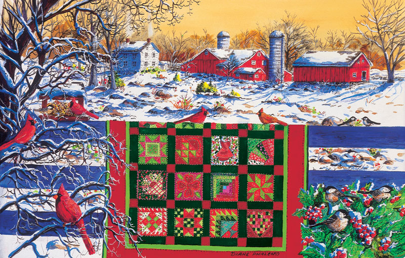 Winter Patchwork quilt puzzle