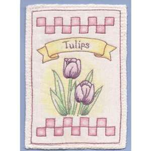 Heirloom Tulips Embroidery Pattern