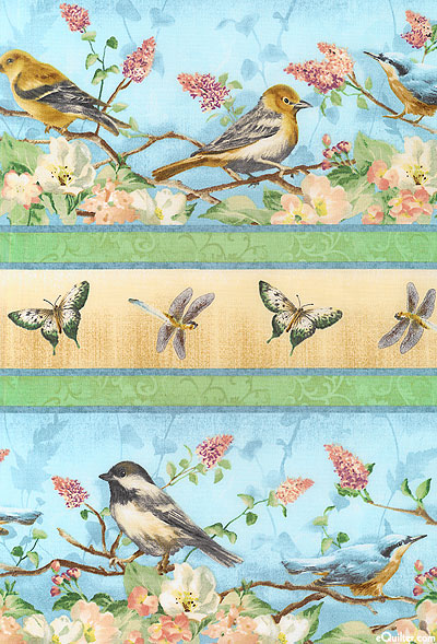 Subtle Song Border quilt fabric
