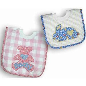 Applique over the head baby bib