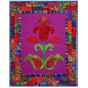 Brick border flower quilt