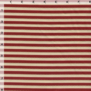 Red and Cream Striped Fabric