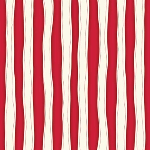Red and White Wavy quilt fabric