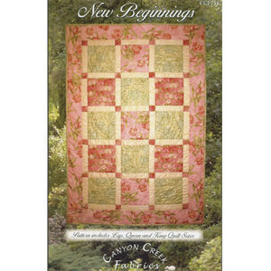 Large scale print quilt pattern