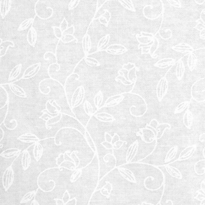 White tone on tone with flowers