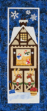 winter barn wall hanging quilt pattern