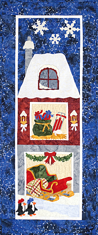 Applique snow scene quilt pattern