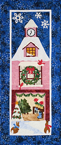 Festive winter home walll hanging quilt pattern