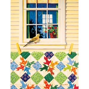 Outside looking in with quilt jigsaw puzzle