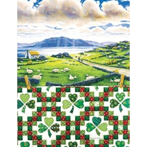Shamrock quilt and countryside Jigsaw Puzzle
