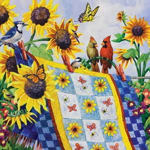 Quilt Sunflowers Birds jigsaw puzzle