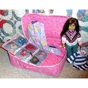 Wardrobe case for doll clothes
