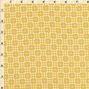 yellow gold small scale fabric