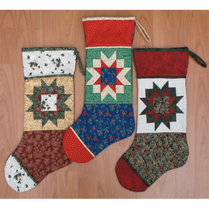 Winter Star Stocking Quilt Pattern